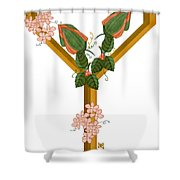 Y Is For Yet To Come Shower Curtain