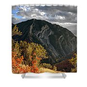 Y Mountain Above Provo Utah At Sunset Shower Curtain