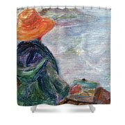 Yachats Painter Shower Curtain