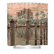 Yacht Basin Shower Curtain