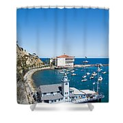 Yacht Club And The Casino Shower Curtain