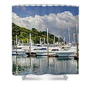 Yacht Lot Shower Curtain