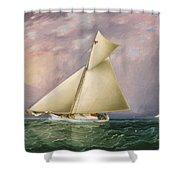 Yacht Race In New York Harbor Shower Curtain
