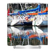 Yachts At Rest Shower Curtain
