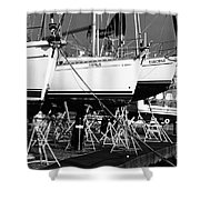 Yachts On Drydock Shower Curtain