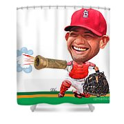 Yadier Molina Shower Curtain