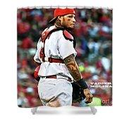 Yadier Molina, St. Louis Cardinals Shower Curtain
