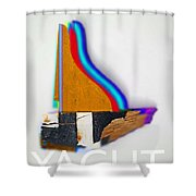Yaghts Shower Curtain