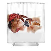 Yahula And His Horses Shower Curtain