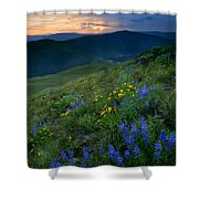 Yakima River Canyon Sunset Shower Curtain