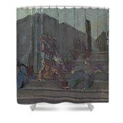 Yakovlev, Alexander 1887-1938 L Escalier, Capri, Nuit Shower Curtain