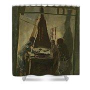 Yakovlev, Alexander 1887-1938 Merguez Seller In Tunis Shower Curtain