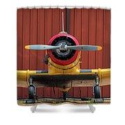 Yale And Hangar - 2018 Christopher Buff, Www.aviationbuff.com Shower Curtain
