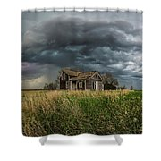 Yale Supercell Pano  Shower Curtain