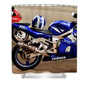 Yamaha Yzf-r6 Motorcycle Shower Curtain