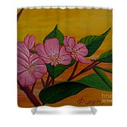 Yamazakura Or Cherry Blossom Shower Curtain