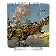 Yangchuanosaurus Dinosaurs Shower Curtain