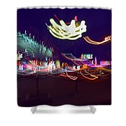 Yangshuo Trees By Night Shower Curtain