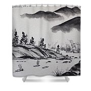 Yangze River Shower Curtain