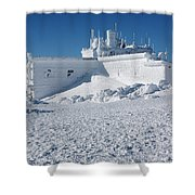 Yankee Building - Mount Washington, New Hampshire Shower Curtain by Erin Paul Donovan