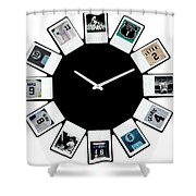 yankees Clock Shower Curtain by Paul Van Scott