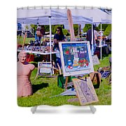 Yard Sale Day Shower Curtain