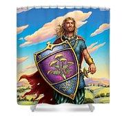 Yarrow - Protective Shield Shower Curtain by Anne Wertheim
