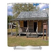 Yates Homestead Built In 1893 On Taylor Creek In Central Florida Shower Curtain