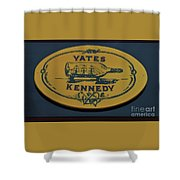 Yates Kennedy Sign Provincetown Shower Curtain