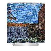 Yates Mill 3 Shower Curtain