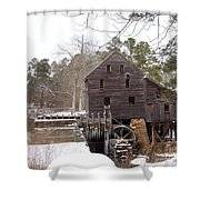 Yates Mill In Winter Shower Curtain by Kevin Croitz