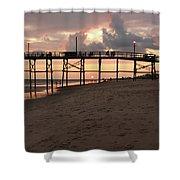 Yaupon Pier Sunset Shower Curtain