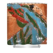 Yawn And Stretch - Tile Shower Curtain