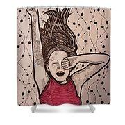 Yawn Shower Curtain