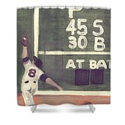 Yaz And The Green Monster Shower Curtain