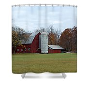 Ye Old Red Barn Shower Curtain