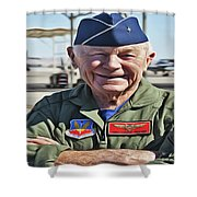 Yeager Shower Curtain