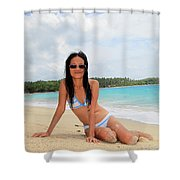 Yeah I'll Be True Shower Curtain