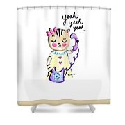 Yeah Yeah Yeah Shower Curtain