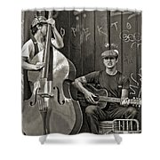 Yeah...it Hurts So Bad Sepia Shower Curtain