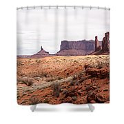 Yei Bi Chei And Totem Pole Formation Shower Curtain