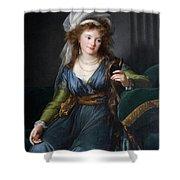 Yekhaterina Vasilievna Engelhardt, Countess Skavronskaya, Later Countess Litta E. Vigee-lebrun Shower Curtain