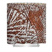Yell - Tile Shower Curtain