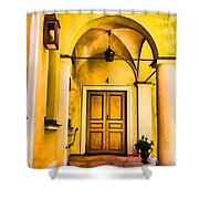 Yell Hall And Door Shower Curtain