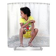 Yella Yellow Shower Curtain