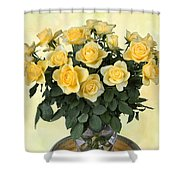Yello Roses Shower Curtain