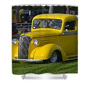 Yellow 30's Chevy Pickup Shower Curtain