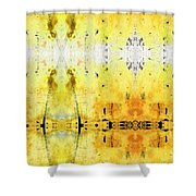 Yellow Abstract Art - Good Vibrations - By Sharon Cummings Shower Curtain