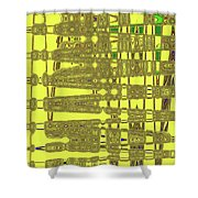 Yellow And Brown Lines Shower Curtain