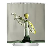 Yellow And Green 1 Shower Curtain